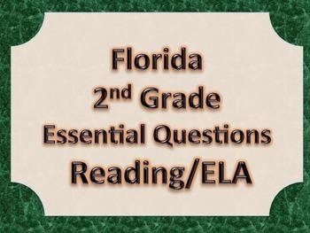 Florida 2nd Second Grade ELA ESSENTIAL QUESTIONS Green Border