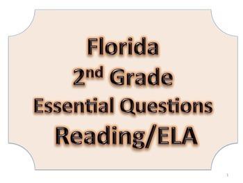 Florida 2nd Second Grade ELA ESSENTIAL QUESTIONS No Border