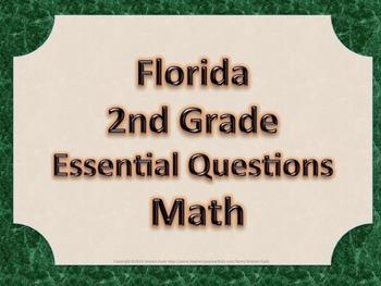 Florida 2nd Second Grade Math ESSENTIAL QUESTIONS Green