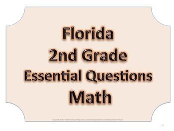Florida 2nd Second Grade Math ESSENTIAL QUESTIONS No Border