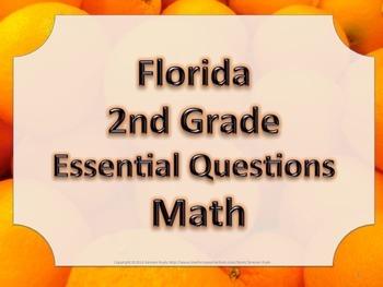 Florida 2nd Second Grade Math ESSENTIAL QUESTIONS Oranges