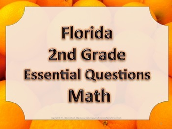 Florida 2nd Second Grade Math ESSENTIAL QUESTIONS Oranges