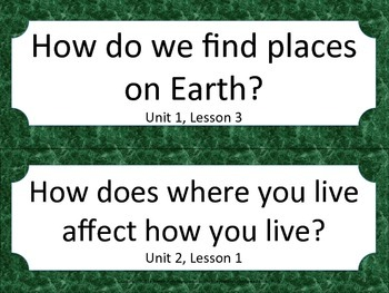 Florida 2nd Second Grade SS Social Studies ESSENTIAL QUESTIONS Green