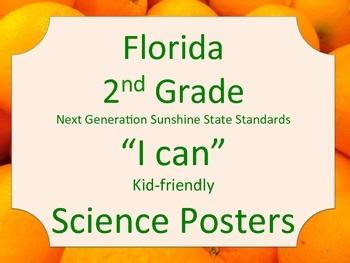 Florida 2nd Second Grade Science Standards NGSSS Orange Border