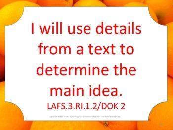 Florida 3rd Third Grade LAFS ELA Language Arts I WILL Standards