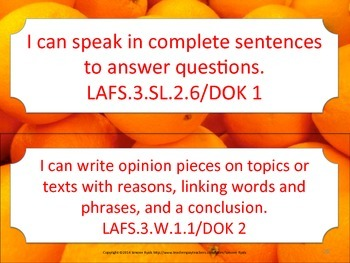 Florida 3rd Third Grade LAFS ELA Language Arts Standards STRIPS