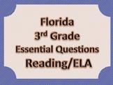 Florida 3rd Third Grade ELA ESSENTIAL QUESTIONS Blue