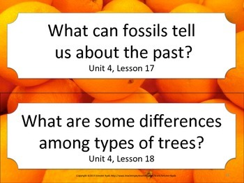 Florida 3rd Third Grade ELA ESSENTIAL QUESTIONS Oranges