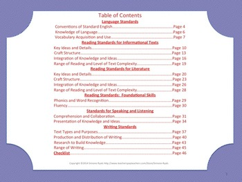 Florida 3rd Third Grade Math ELA Science AND SS Standards Posters Red BlueBundle
