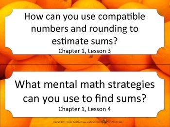 Florida 3rd Third Grade Math ESSENTIAL QUESTIONS Oranges