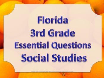 Florida 3rd Third Grade SS Social Studies ESSENTIAL QUESTIONS Oranges