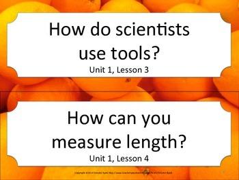 Florida 3rd Third Grade Science ESSENTIAL QUESTIONS Oranges