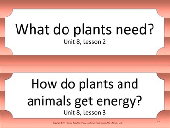 Florida 3rd Third Grade Science ESSENTIAL QUESTIONS Red