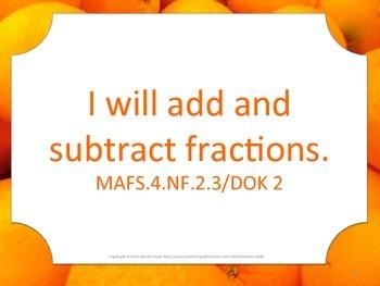 Florida 4th Fourth Grade MAFS I WILL  Math Standards Posters