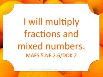 Florida 5th Fifth Grade MAFS I WILL Math Standards Posters