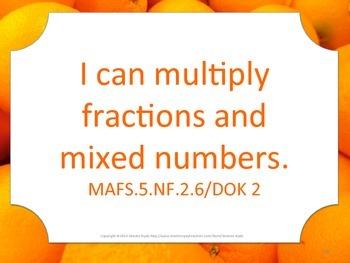Florida 5th Fifth Grade MAFS Math Standards Posters