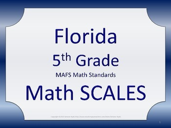 Florida 5th Fifth Grade MAFS Math SCALES Posters