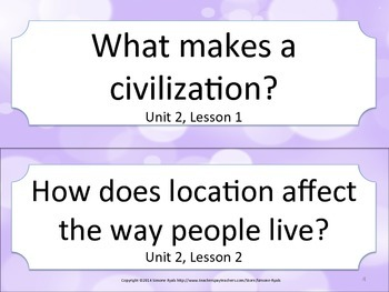 Florida 5th Fifth Grade SS Social Studies ESSENTIAL QUESTIONS Purple