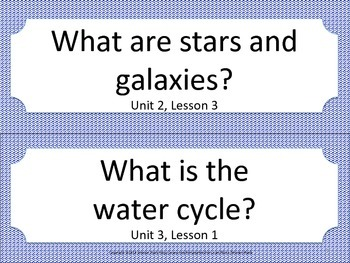 Florida 5th Fifth Grade Science ESSENTIAL QUESTIONS Blue
