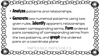 Florida 5th Grade Mathematics Standards- FSA Aligned