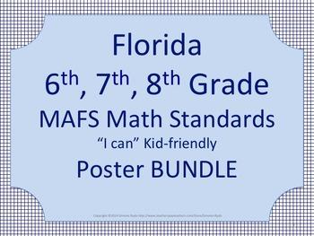 Florida 6th 7th 8th Grade MS 2015 2016 MAFS Math Standards