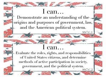 Florida 7th Grade Social Studies iCan Statements