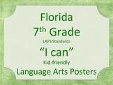 Florida 7th Seventh Grade LAFS ELA Standards Posters