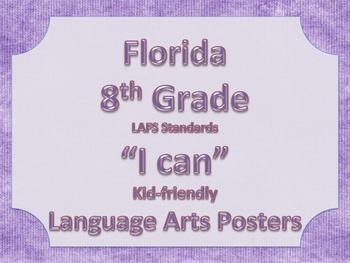 Florida 8th Eighth Grade LAFS Reading Language Arts ELA Standards
