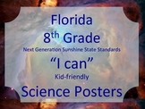 Florida 8th Grade Science Next Generation Sunshine State Standards NGSSS Posters