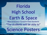 Florida High School HS Earth Space Science Standards Posters NGSSS