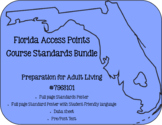Florida Access Points Course Standards Bundle for Prep for Adult Living