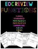 Florida Algebra 1 EOC Prep: Functions- CHARACTERISTICS OF GRAPHS