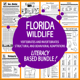 Florida Animals (NINE Vertebrates & Invertebrates Animal Adaptation Lessons)