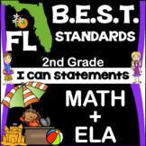 Florida B.E.S.T. Standards: 2nd Grade ELA+Math I Can State
