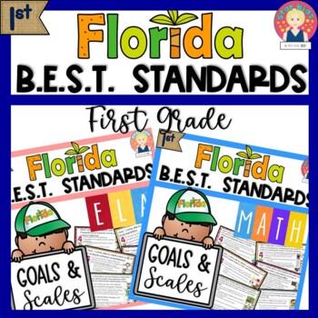 Florida B.E.S.T. Standards GOALS AND SCALES | ELA and MATH | Grade 1 -Editable