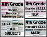 Florida B.E.S.T. Standards Reference Card - 4th Grade (Math)