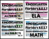 Florida B.E.S.T. Standards Reference Card - Kindergarten (Math)