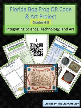Florida Bog Frog QR Code Science and Art Lesson
