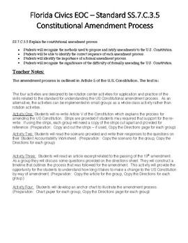 Florida Civics - Amendment Process - FL.SS.C.3.5
