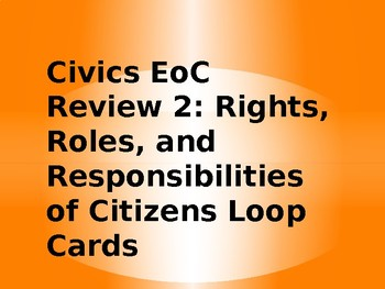 Florida Civics EoC Exam Review Loop Cards- Citizenship