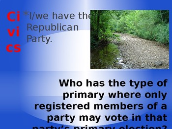 Florida Civics EoC Exam Review Loop Cards- Govt Policies and Political Processes