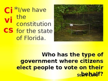 Florida Civics EoC Exam Review Loop Cards- Organization of Govt