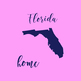 Florida Clipart, USA State Vector Clipart, Florida Home, Gold US Clipart