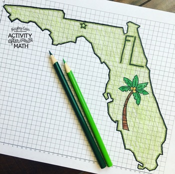 Florida Coordinate Graphing Mystery Picture 1st Quadrant & ALL 4 Quadrants