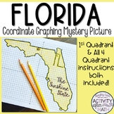 Florida Coordinate Graphing Picture 1st Quadrant & ALL 4 Quadrants