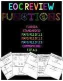 Florida Algebra 1 Functions- domain, range, relation, & ev