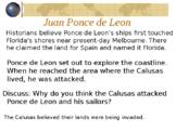 Florida Gr4 Explorer Ponce DeLeon, Columbus, Narvaez, de Soto History PowerPoint