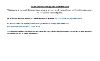 Florida FTCE General Knowledge Test Study Materials