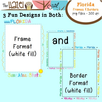 FREE Florida Frames & Borders Set: Graphics for Teachers