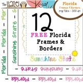 FREE Florida Frames & Borders Set: Graphics for Teachers
